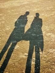 Zwei am Strand