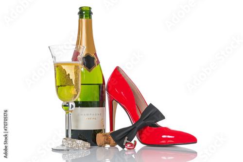 In de dag Buffet, Bar Champagne party
