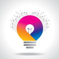 colorful idea bulb vector
