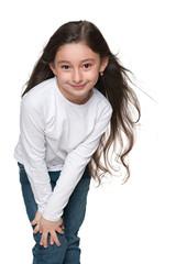 Closeup portrait of a pretty little girl