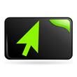 cliquez ici sur bouton web rectangle vert