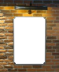 Blank billboard or poster