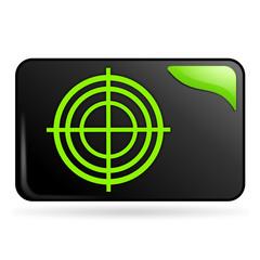 diagnostic sur bouton web rectangle vert