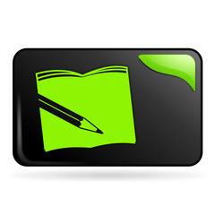 scolaire sur bouton web rectangle vert