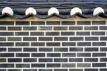 korean style brick wall