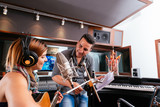 Working in the recording studio poster