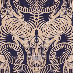 Repaint seamless pattern: Aries