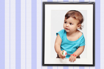 child and frame