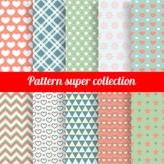 Collection of Chic Vector Seamless patterns.