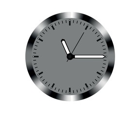 Metal design wall clock