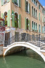 Bridge over a canal in Venice
