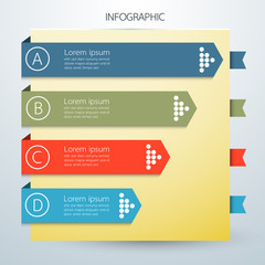 Infographics business arrow options. notebook style