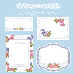 Wedding invitation, floral border.