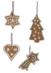 Christmas Cookies Hanging Isolated