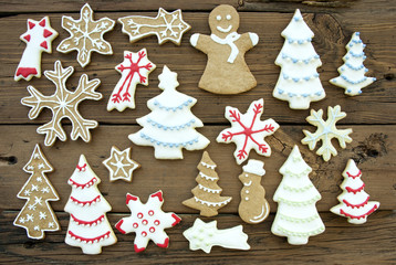 Different Kinds of Cookies on Wood