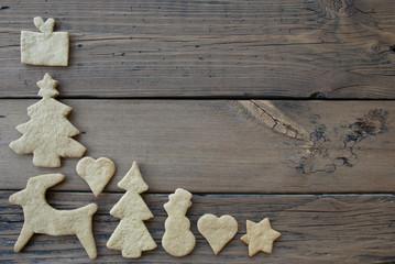 Ginger Bread Frame for Wooden Background