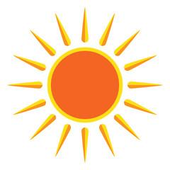 Sun on white background