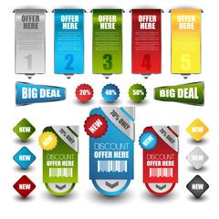 web sale or discount banner set