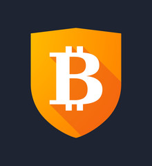 Shield with a bitcoin sign