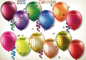 2015 Calendar-Balloon