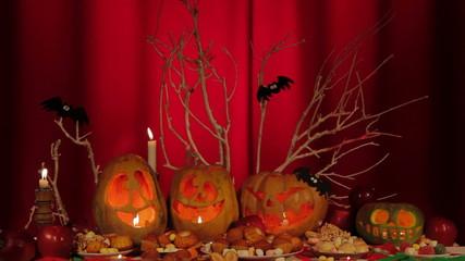 Composition Of Pumpkins At Halloween
