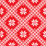 Seamless Ukrainian Slavic folk art red embroidery pattern - 70712528