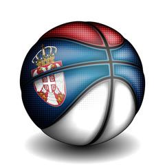 Serbian basket ball, vector