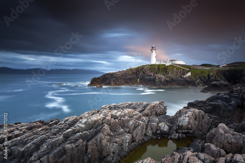Tuinposter Water Fanad Head Lighthouse IX