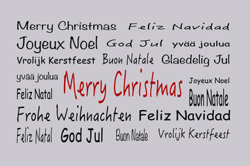 Merry Christmas tag cloud schwarz/rot