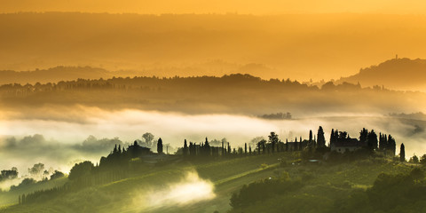 Clouds in the Hills of Tuscany