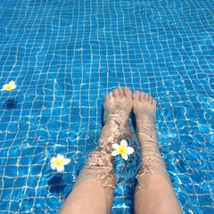 in the swimming-pool