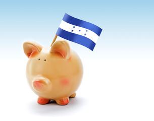 Piggy bank with national flag of Honduras