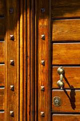 abstract  rusty brass brown knocker olgiate olona varese italy