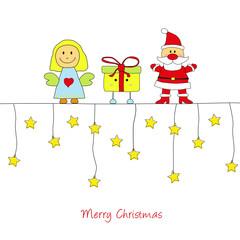 Weihnachtskarte Engel,Nikolaus