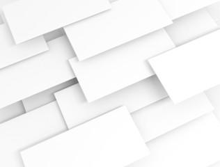 White 3d blank sqaures overlapped