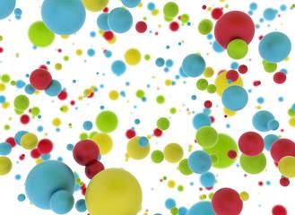 Multi color balls isolated on white background © Jezper