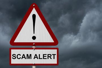 Scam Alert Caution Sign