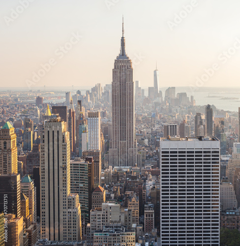 Panel Szklany Aerial View of Manhattan, New York