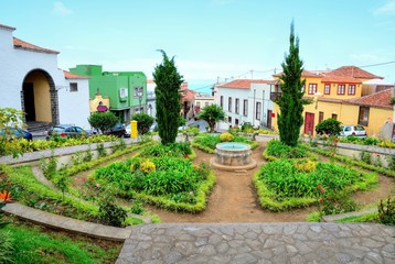 Park in the old town La Orotava in the Tenerife, Spain.