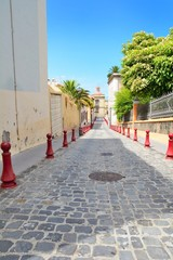 Paved street of the old town La Orotava.