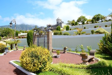 Botanical terraced garden in La Orotava town in the Tenerife.