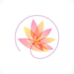 flower abstract vector design template. Health & SPA