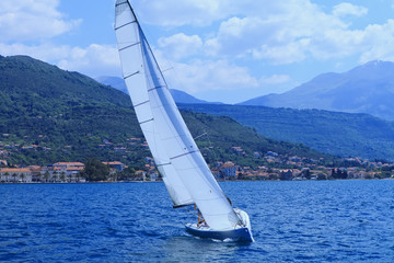 Racing yacht in the Adriatic Sea