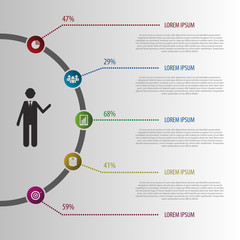 Abstract design illustration Infographic. Vector