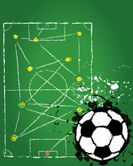 Soccer / Football illustration,free copy space, vector
