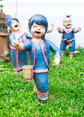 Clay of Thai children smile