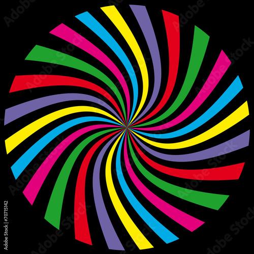 Poster Spiraal spirale multicolore