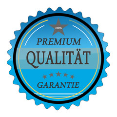 ql11 QualityLabel - Premium Qualität Garantie - blau g1786