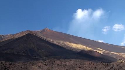 Lateral cones and lava scoriae of Mount Etna. Sicily