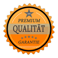 ql12 QualityLabel - Premium Qualität Garantie - orange g1787